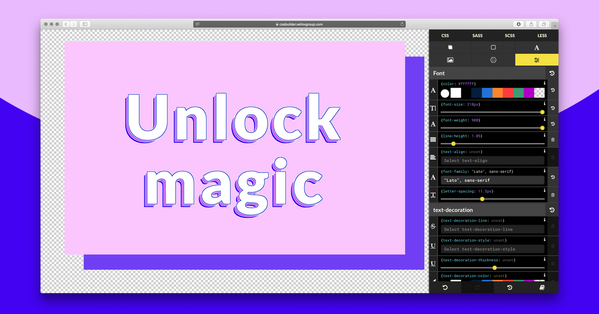 Grab n'go visual CSS editor